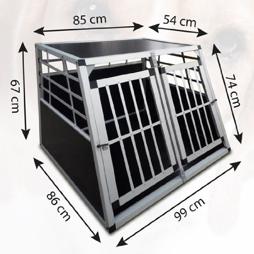 alu hundetransportbox f rs auto doppelt rig. Black Bedroom Furniture Sets. Home Design Ideas